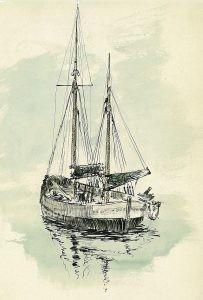 1959 BATEAU DE PECHE AU LARGE DE VEERE img-725101436-0001