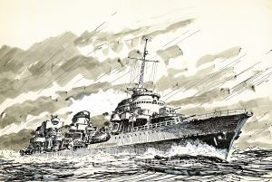 DESTROYER C.Adam 1955